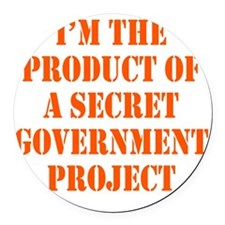 govt-project2 Round Car Magnet