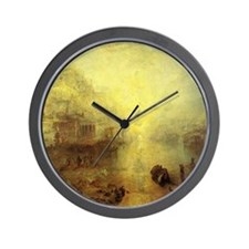 Ovid Banished from Rome Wall Clock