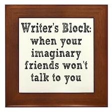 writers-block3 Framed Tile