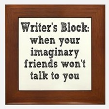 writers-block3 Framed Tile
