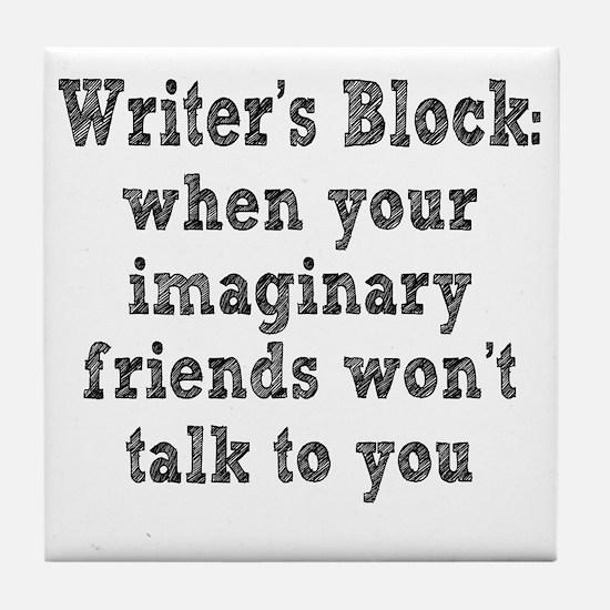 writers-block3 Tile Coaster