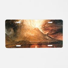 Vesuvius Erupting Aluminum License Plate