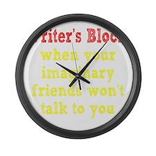 writers-block2 Large Wall Clock