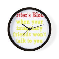 writers-block2 Wall Clock