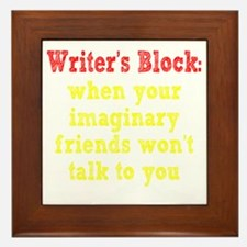writers-block2 Framed Tile