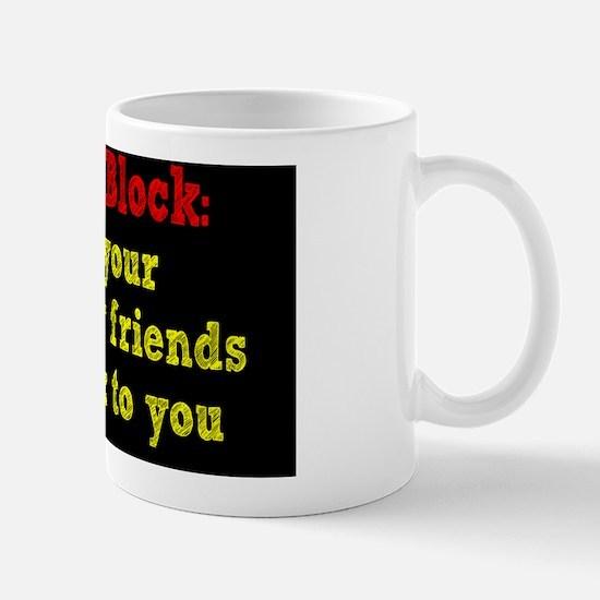 writers-block_rect2 Mug