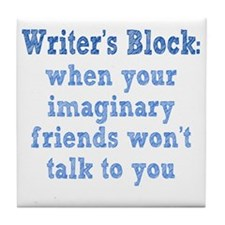 writers-block1 Tile Coaster
