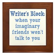 writers-block1 Framed Tile