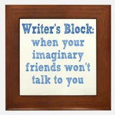 writers-block1 Framed Tile