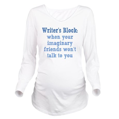writers-block1 Long Sleeve Maternity T-Shirt