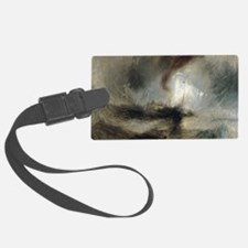 Snow Storm Steam Boat Luggage Tag