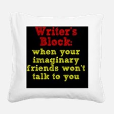 writers-block_rnd2 Square Canvas Pillow