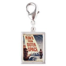 plan_nine_from_outer_space Silver Portrait Charm