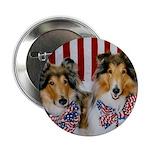 Patriotic Collies Button