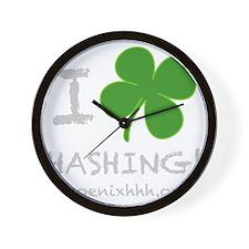 I Clover Hashing White Wall Clock