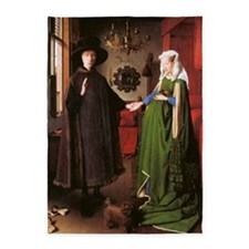 Portrait of Giovanni Arnolfini and  5'x7'Area Rug