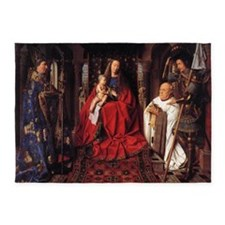 The Madonna with Canon van der Pael 5'x7'Area Rug