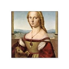 "Lady with a Unicorn Square Sticker 3"" x 3"""