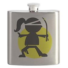 Ninja Girl Karate Flask