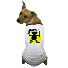 Ninja Girl Karate Dog T-Shirt