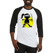 Ninja Girl Karate Baseball Jersey