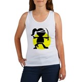 Ninja girl karate tank Women's Tank Tops
