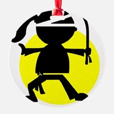 Ninja Girl Karate Ornament