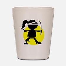 Ninja Girl Karate Shot Glass