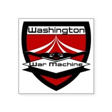 "CFL_Washington War Machine  Square Sticker 3"" x 3"""