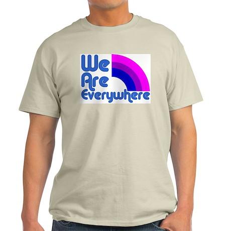 We Are Everywhere Bi Pride Ash Grey T-Shirt