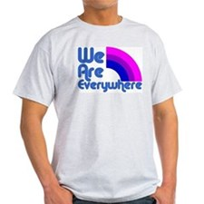 We Are Everywhere Bi Pride Ash Grey T-Shirt