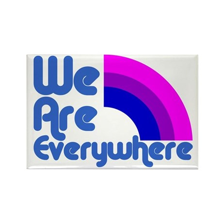 We Are Everywhere Bi Pride Rectangle Magnet