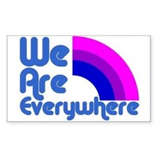 We Are Everywhere Bi Pride Rectangle Decal