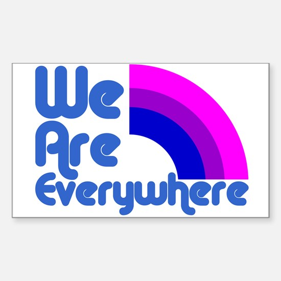 We Are Everywhere Bi Pride Rectangle Decal