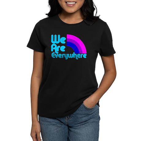 We Are Everywhere Bi Pride Women's Dark T-Shirt