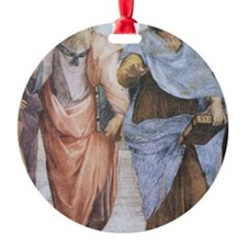 School of Athens (detail - Plato  A Round Ornament