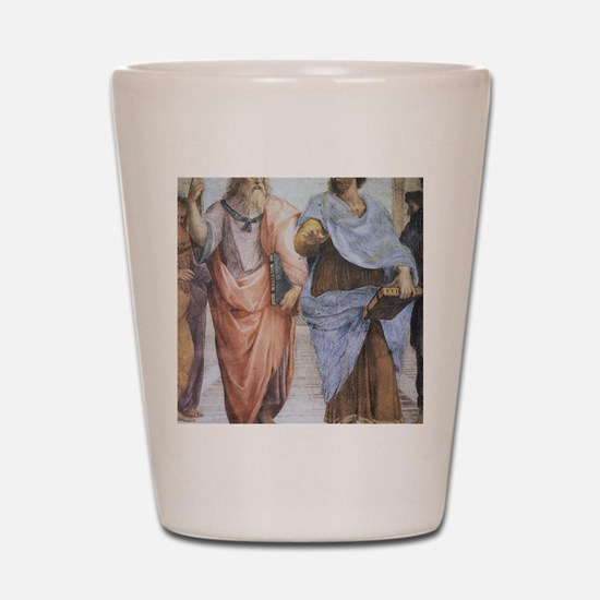 School of Athens (detail - Plato  Arist Shot Glass