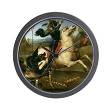 St George Fighting the Dragon Wall Clock