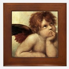 The Sistine Madonna (2nd detail) Framed Tile