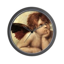The Sistine Madonna (2nd detail) Wall Clock