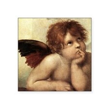 """The Sistine Madonna (2nd de Square Sticker 3"""" x 3"""""""