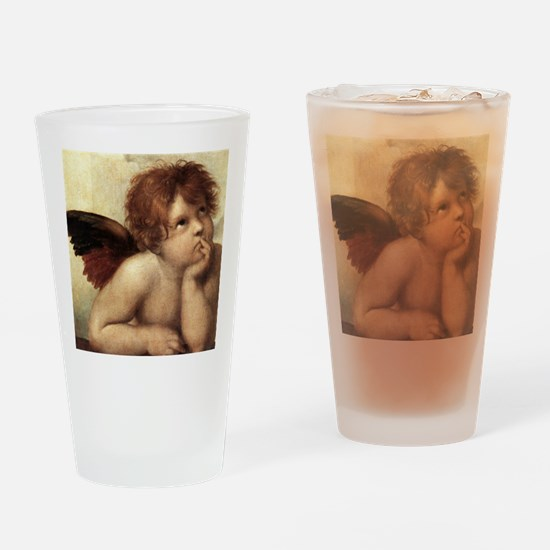 The Sistine Madonna (2nd detail) Drinking Glass