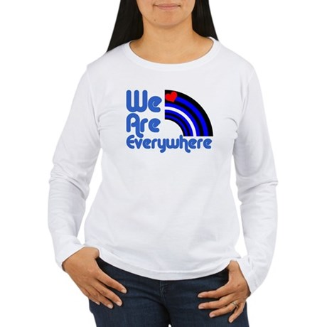 We Are Everywhere Leather Pri Women's Long Sleeve
