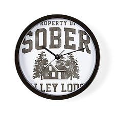 Sober Brown Wall Clock