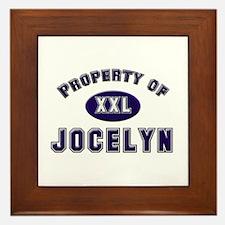 Property of jocelyn Framed Tile