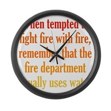 fight-fire1 Large Wall Clock
