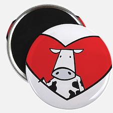 "Valentine Cow 2.25"" Magnet (100 pack)"