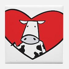 Valentine Cow Tile Coaster