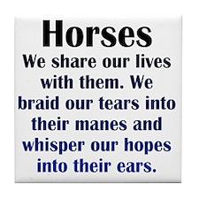 horses1 Tile Coaster