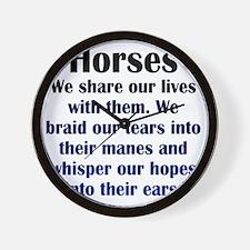 horses1 Wall Clock